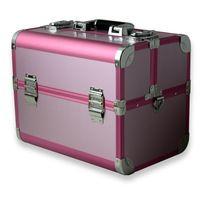 Multi-layer bandejas de tren del maquillaje caso cosmético de aluminio organizador tamaño 33.5 x 23.5 x 27 cm