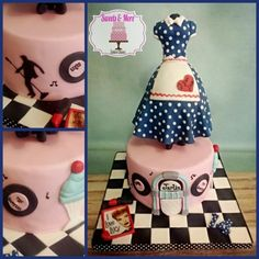 50s theme cake by sweetsnmore