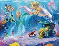 Modern Disney Princess Mermaid Wall Stickers Murals in Teenage . Childrens Wall Murals, Childrens Room Decor, Mermaid Wallpapers, Disney Bedrooms, Mermaid Pictures, Mermaid Images, Modern Disney, Kids Wallpaper, Disney Wallpaper