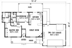 Find your dream santa-fe style house plan such as Plan which is a 1304 sq ft, 2 bed, 2 bath home with 2 garage stalls from Monster House Plans. Custom Home Plans, Custom Homes, Pre Built Homes, Design Your Own Home, Jack And Jill Bathroom, Monster House Plans, Desert Homes, Living Styles, Story House