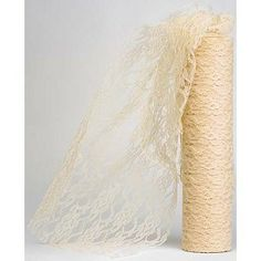 Ivory Lace Netting on a Roll 30cm