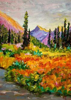 "Daily Paintworks - ""Golden Fields"" - Original Fine Art for Sale - © Liz Zornes"