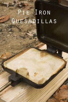 On a chilly day, pie iron quesadillas make a great lunch. Tortillas work well in a pie iron, creating crispy pockets you can fill with a variety of ingredients. In this recipe, I keep things tradit… Quesadillas, Crepes, Camping Bedarf, Camping Cooking, Glamping, Camping Foods, Camping Hacks, Camping Stuff, Family Camping