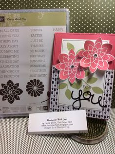 Stampin Up Crazy About You by - Cards and Paper Crafts at Splitcoaststampers Ribbon Cards, Crazy About You, Stampin Up Catalog, Stamping Up Cards, Heart Cards, Flower Cards, Craft Gifts, Cardmaking, Your Cards