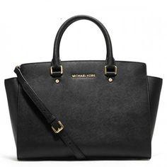 bc516aec2818 MICHAEL Michael Kors Selma Top-Zip Large Black Tote Satchel Handbags