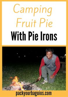 Learn how to use fun camping pie irons to make delicious fruit pies! Kayak Camping, Camping Meals, Kids Meals, Camping 101, Camping Hammock, Camping Recipes, Backpacking Food, Ultralight Backpacking, Hiking Tips