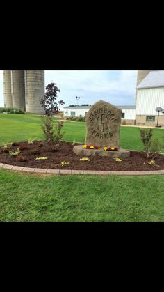 Concrete sign and edging Landscape Edging Borders, Landscape Curbing, Concrete, Sign, Outdoor Decor, Signs, Board