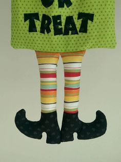Halloween Trick or Treat Bag sewing pattern with templates and