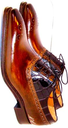 We love the two-tone leather #dressshoes