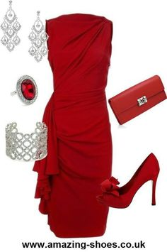 Gorgeous sexy red dress with every thing beautiful with it.<3<3<3<3