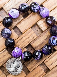 Purple swirl agate www.powerbeadsbyjen.com