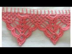 Diy Crafts - barradodecroche-Enjoy the videos and music you love, upload original content, and share it all with friends, family, and the world on You Crochet Blanket Edging, Crochet Lace Edging, Crochet Motifs, Crochet Borders, Crochet Doilies, Crochet Flowers, Crochet Stitches, Crochet Patterns, T-shirt Au Crochet