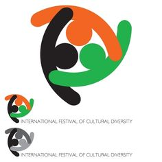 "UNITY IN DIVERSITYby marsuser This logo represents a design consisting of three symbolic persons in a friendly embrace (view from above), symbolizing unity and culture, thus, the main idea being ""Unity in Diversity"". The logo's figures form a triad, the symbol for diversity, and the colors; black color symbolizes the cultural roots and the ground they grow from; the orange one means a joy of the cultural contacts and communication; and the green color symbolizes a life and existence."
