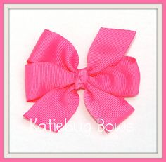 You can give hair bows to each girl at the party!  Make them all the same or make them different.  But that's a party favor that won't go straight in the trash!  This size will work on an American Girl Doll, too!