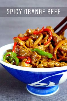 Savoury, fruity, slightly sour and refreshingly spicy, orange beef stir-fry is a comforting dish that can be easily prepared in your own kitchen. #redhousespice Asian Recipes, Beef Recipes, Cooking Recipes, Ethnic Recipes, Chinese Recipes, Orange Beef, Orange Juice, Fried Beef, Fried Rice