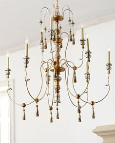 """$2,000 Tiered """"Industrial"""" Chandelier by VISUAL COMFORT at Horchow. 46"""" Diameter"""