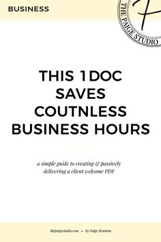 This 1 Doc Saves Countless Business Hours