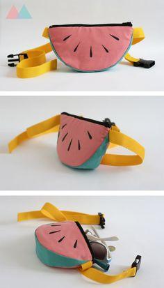 Water-melon Bumbag. Hand-sewn in our Merri studio. 'Top Festival Fashion Tip' - Supermarket Sarah, The Metro. 24-05-12