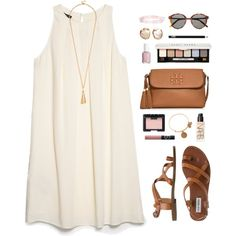pale colors by classically-preppy on Polyvore featuring MANGO, Steve Madden, Tory Burch, Alex and Ani, Yves Saint Laurent, Bobbi Brown Cosmetics, NARS Cosmetics and Essie