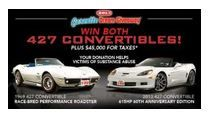 The Corvette Dream Giveaway ends 12/30/2013 and 1 person will win both of these 427 Corvette Convertibles! Got tickets? Donate $3 or more at: http://www.winthevettes.com and use promo code:TP1813C for bonus tickets.