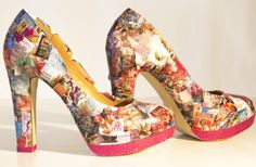 Romance Novel Shoes by Rudi | CraftyChica.com | Official site of award-winnning artist and novelist, Kathy Cano-Murillo.