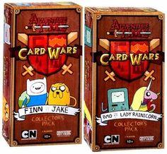 Adventure Time Card Wars Game Set of Both Collector Packs Finn vs. Jake & BMO vs. Lady Rainicorn New! $50