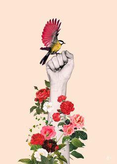 Flower Collage, Flower Art, Collage Design, Collage Art, Art And Illustration, Grace Art, Surreal Art, Digital Collage, Belle Photo