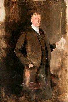 John Singer Sargent (1856-1925) Study for a Portrait of Captain John Spicer, c. 1901 Oil on canvas 26 1/2 x 18in