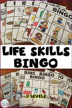 Students LOVE working on life skills when they get to play games!! My special education students enjoy working on labeling and identifying function through these games. Money, daily living activities, hygiene, furniture, appliance, cooking tools and the grocery store are covered in this set. They are especially great for students with autism or other language based disabilities.