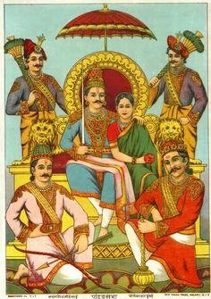 Panch Pandav and Droupadi Mahabharat