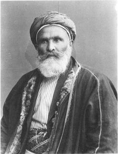 Musa Janini | Before Their Diaspora.  Musa Janini (1858-1938), a village elder from Ain Karem, Jerusalem district. Note the sheepskin coat turned inward.