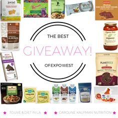 The Best of Expo West 2015 - GIVEAWAY! - To Live & Diet in LA