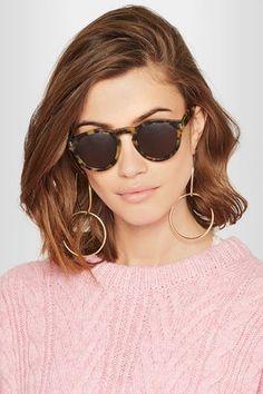 Illesteva Leonard Round-frame Acetate Sunglasses on ShopStyle