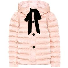 Miu Miu Down Jacket ($1,360) ❤ liked on Polyvore featuring outerwear, jackets, jacket's, pink, down jacket, miu miu, pink jacket, miu miu jacket and down filled jacket