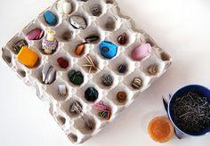 organization via egg carton.