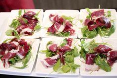 Salade van gerookte eend en balsamico. Gezond en lekker hapje. Pure keuken. Blog met gezonde recepten. Gezond eten.