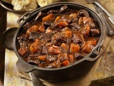 Camping stew is best made in a Dutch oven over the campfire. This easy recipe is hearty, simple, rich and tasty.
