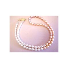 Freshwater Pearl Necklace Pink Peach Ivory Single Pearl Strand Luxe... (€48) via Polyvore featuring jewelry, necklaces, pink pearl necklace, fresh water pearl necklace, pink necklace, peach necklace and white freshwater pearl necklace