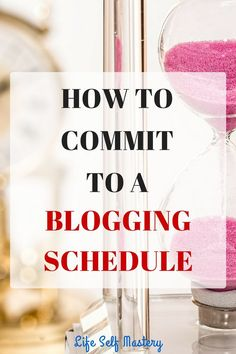 Do you find it difficult to commit to a blogging schedule? Click through to know how to commit to a schedule.