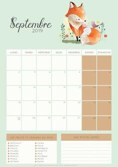 Calendrier de Septembre 2019 à imprimer Diy, Bujo, Bullet, Scrap, Kpop, Pictures, Printable Monthly Calendar, September Calendar, Birthday Calendar Board
