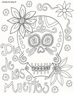 Day of the Dead Coloring Pages
