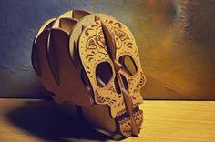 Shugar Skull pen holder от LittleWoodenWonder на Etsy
