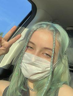 Hair Dye Colors, Hair Color, Hair Inspo, Hair Inspiration, Mint Hair, Mint Green Hair, Dying My Hair, Aesthetic Hair, Pretty Hairstyles