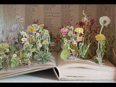 Flower pop-up book art! Pop Up, Altered Books, Book Sculpture, Paper Sculptures, Sculpture Ideas, Flower Aesthetic, Nature Aesthetic, Arte Floral, Artists