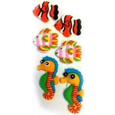 FISH ASSORTED 20MM 2D BOX OF 6