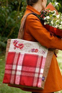 Sac Tartan « Fleurs de France » - Linen