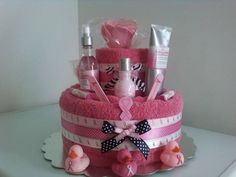 Breast Cancer Awareness Towel Cake by cynserely - Cards and Paper Crafts at Splitcoaststampers