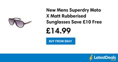 New Mens Superdry Moto X Matt Rubberised Sunglasses Save £10 Free Delivery, £14.99 at ebay