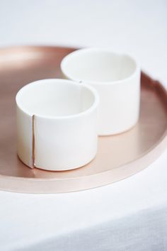 CONNECT - Plate Pink Copper by Fou de Feu made in Belgium on CROWDYHOUSE #home #decor