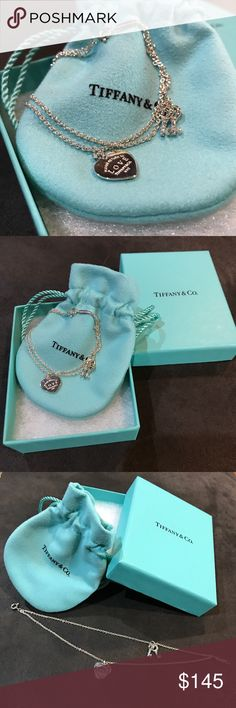 "Sterling Silver Tiffany & Co. Small Bracelet Tiffany & Co. Sterling Silver ""Return to Tiffany Love Heart Tag Key"" Bracelet Size Small 6"" in length Brand New and in Original Bag and Box Tiffany & Co. Jewelry Bracelets"